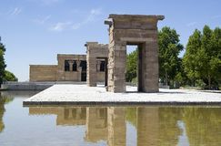 Temple of Debod, Madrid, Spain. Temple of Debod (Templo de Debod), Egyptian temple located in Madrid, Spain, donated by Egypt Royalty Free Stock Image