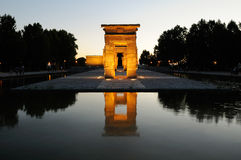 Temple of Debod, Madrid, Spain Stock Photos