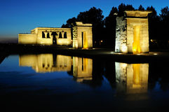 Temple of Debod, Madrid, Spain Royalty Free Stock Images