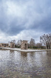 The Temple of Debod in Madrid, Spain. Stock Image