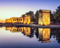 Temple Debod of Madrid Stock Images