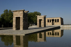 Temple of Debod in Madrid in Spain Royalty Free Stock Image