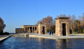 Temple of Debod in Madrid, Spain Stock Photo