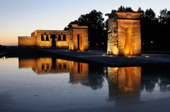 Temple of Debod, Madrid, Spain Stock Photo
