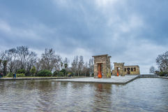 The Temple of Debod in Madrid, Spain. Royalty Free Stock Images