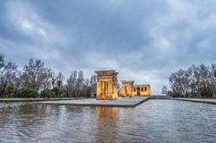 The Temple of Debod in Madrid, Spain. Stock Photo