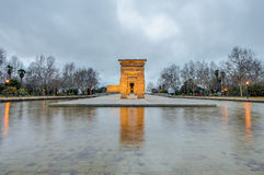 The Temple of Debod in Madrid, Spain. Stock Photography