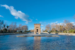 The Temple of Debod in Madrid, Spain. Stock Photos