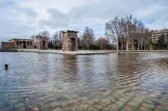 The Temple of Debod in Madrid, Spain. Stock Images