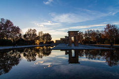 Temple Debod in Madrid Stock Photography