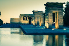 Temple of Debod at night, Madrid (Spain) Royalty Free Stock Photo