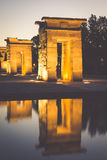 Temple of Debod at night, Madrid (Spain) Stock Image