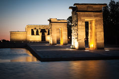 Temple of Debod at night, Madrid (Spain) Stock Photos