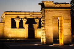 Temple of Debod at night, Madrid (Spain) Royalty Free Stock Photos