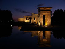 Temple of Debod in Spain. A night view of the Egyptian Temple of Debod, Madrid, Spain Royalty Free Stock Photo
