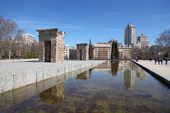 Temple of Debod at sunny day. Stock Image