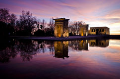 Temple of Debod - Sunset Stock Photography
