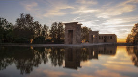 Temple of Debod at sunset Royalty Free Stock Photography
