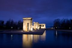 Temple of Debod Wide Angle Stock Image