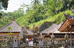 Temple, decorated to holiday. Indonesia,Bali Royalty Free Stock Photo