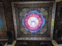 Temple decoration and big Buddha monument, tourist destination, Sri Lanka stock image
