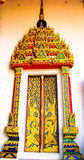 Temple decorations. Common architectural style of Buddhist temples Buddhism exhibit a different architectural and decorative approach.Buddhist monks decorate all Stock Images