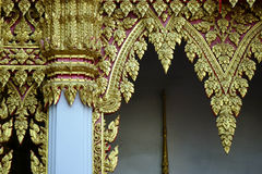 Temple decorations. Common architectural style of Buddhist temples Buddhism exhibit a different architectural and decorative approach.Buddhist monks decorate all Royalty Free Stock Image