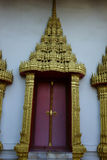 Temple decorations. Common architectural style of Buddhist temples Buddhism exhibit a different architectural and decorative approach.Buddhist monks decorate all Royalty Free Stock Photography