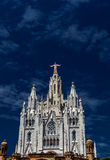 Temple del Sagrat Cor. Front view, Tibidabo, Barcelona, Spain Royalty Free Stock Photo