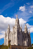 The Temple del Sagrat Cor (Church of the Sacred Heart). Barcelon Royalty Free Stock Images