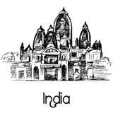 Temple Delhi d'ISKCON illustration libre de droits