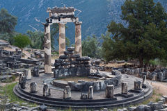 Temple in Delphi Stock Photo