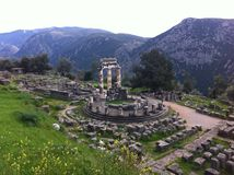 Temple of Delphi stock photography