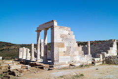 Temple of Demeter, Naxos island Stock Images