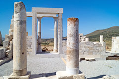 Temple of Demeter, Naxos island Stock Image
