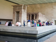 The Temple of Dendur at the Metropolitan Museum in NY Stock Photos