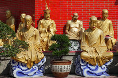 Temple des 10000 Buddhas Image stock