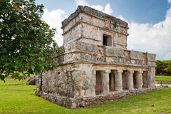 Temple des fresques dans Tulum Photo libre de droits