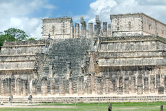 Temple des guerriers, Chichen Itza Photographie stock