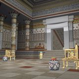 Temple des pharaons Images libres de droits