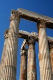 Temple des piliers de Zeus, Athènes Image stock