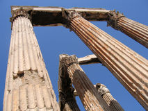 Temple des ruines olympiques de Zeus image stock