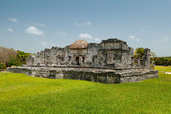 Temple of the Descending God in Tulum Mayan Ruins Royalty Free Stock Photos