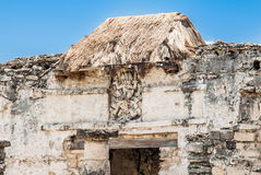 Temple of the Descending God Tulum Mexico Stock Photos