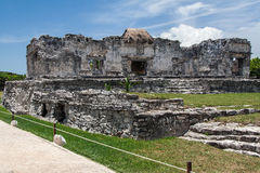 Temple of the Descending God Tulum Mexico Stock Photo