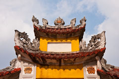 Temple Detail. Rooftop detail of a Hanoi temple in Vietnam Stock Photos