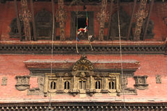 Temple detail in Bhaktapur Stock Image