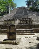 Temple detail at Calakmul Royalty Free Stock Photography