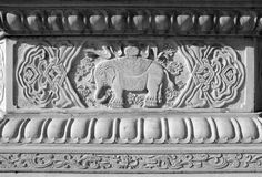 Temple detail carved stone Royalty Free Stock Image