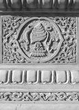 Temple detail carved stone Royalty Free Stock Photography